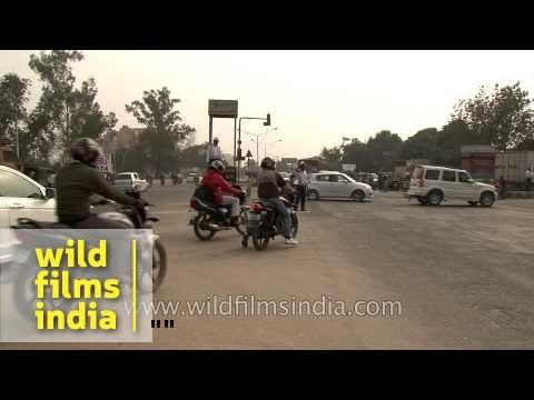 Traffic on the roads of National Capital Region - Faridabad