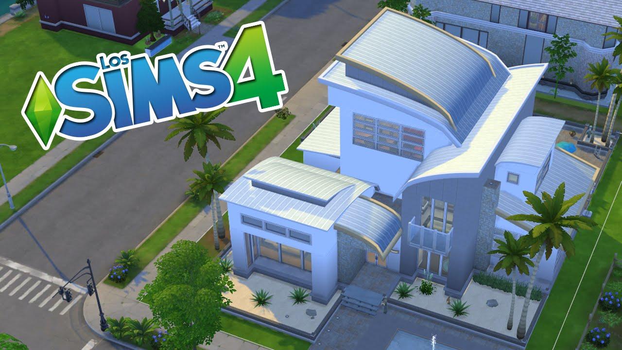 Una preciosa casa moderna de los sims 4 youtube for Planos de casas sims