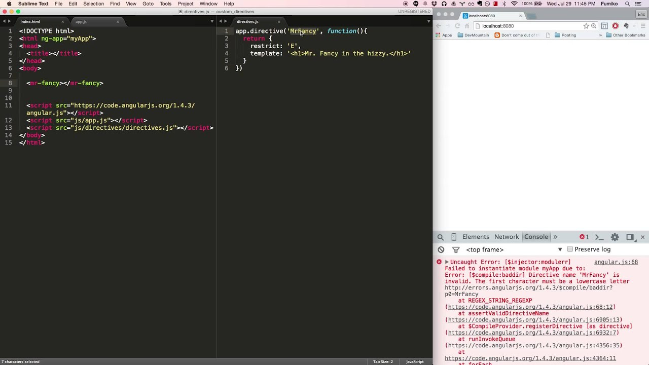 Building Directives with Restrict in AngularJS - YouTube