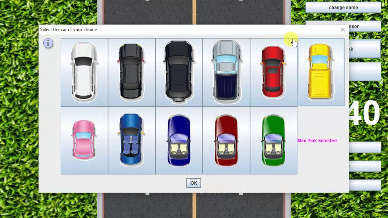 Car Game (Java)