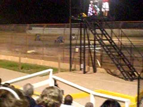 Sprint cars final laps - Hendry County Speedway 9/19/09