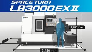 3d machine view/turning center space turn lb3000 ex Ⅱ【okuma corporation japan】
