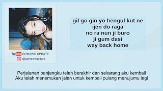 Easy Lyric Shaun WAY BACK HOME by GOMAWO Indo Sub.mp3