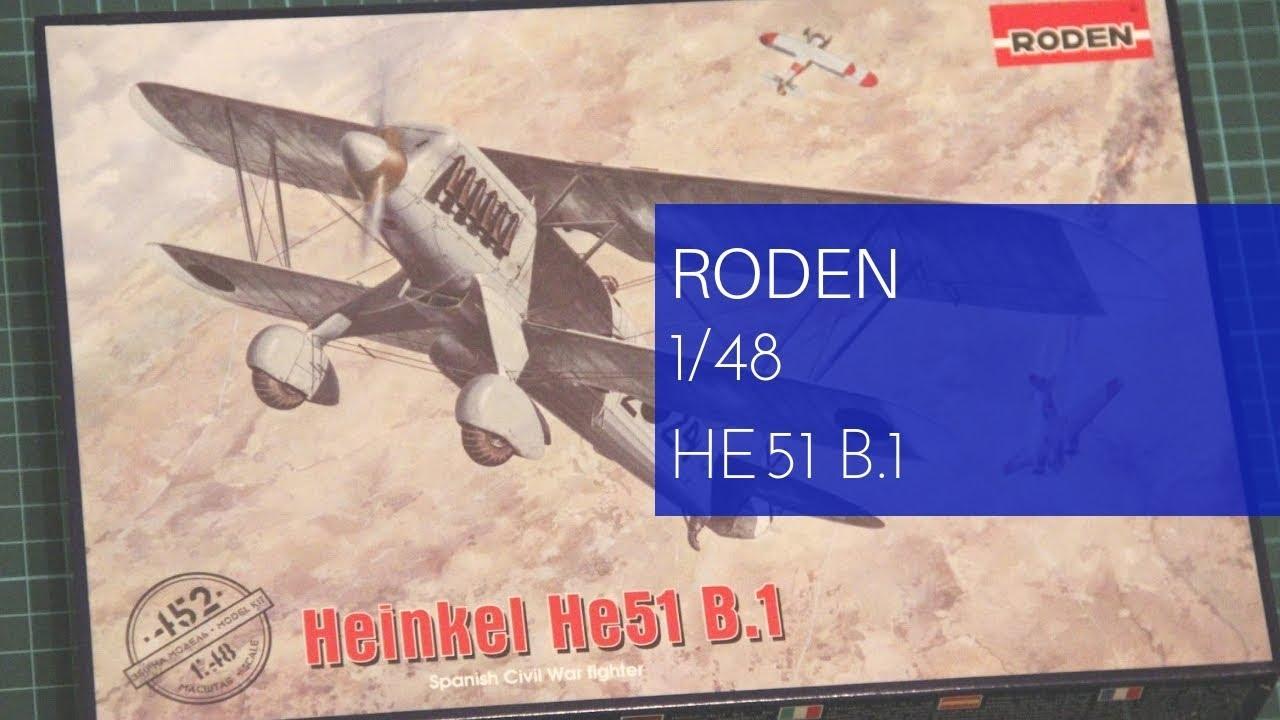 Heinkel He.51 B.1 1//48 Roden 452