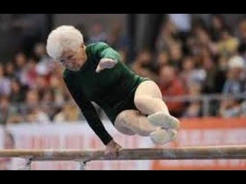 ANCIANA DE 86 AÑOS HACIENDO PIRUETAS. La gimnasta mas anciana del mundo. Johanna Quaas