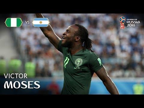 Victor MOSES Goal - Nigeria v Argentina - MATCH 39