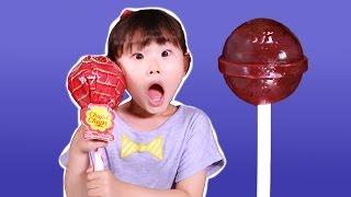 도전!!! 초대형 왕사탕 리뷰 & 먹방 챌린지ㅣ달콤한 츄파츕스 롤리팝  LimeTube & Toy 라임튜브
