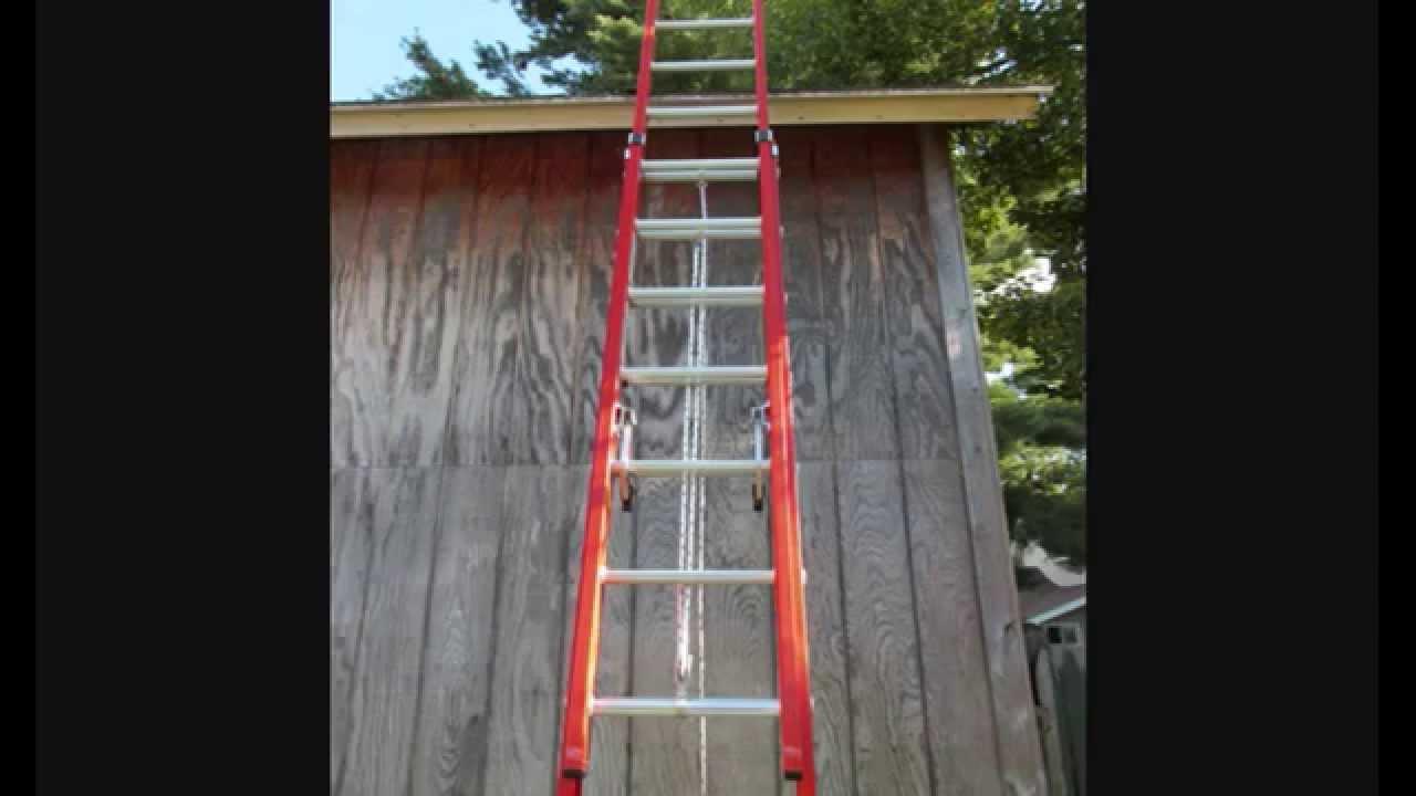 Werner 24 Ft Double Pulley Fiberglextension Ladder 300 Lb Capacity D6224 2 You