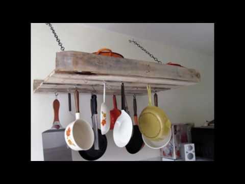 pallet wood kitchen shelf
