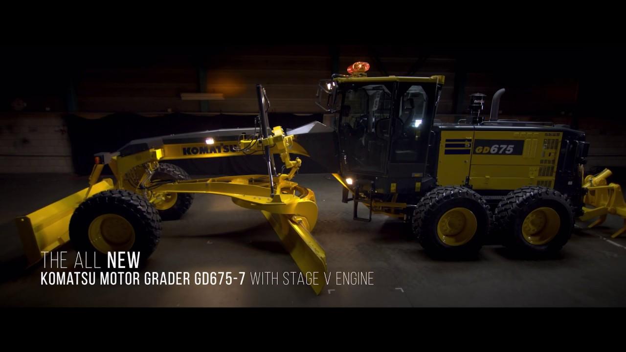 Komatsu GD675-7 Motor Grader Walkaround