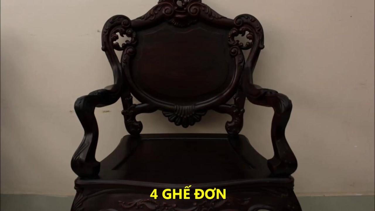 bộ bàn ghế Louis gỗ trắc – Đồ Gỗ Xưa & Nay