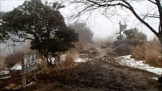 剣尾山の頂上のようす (2月中旬)