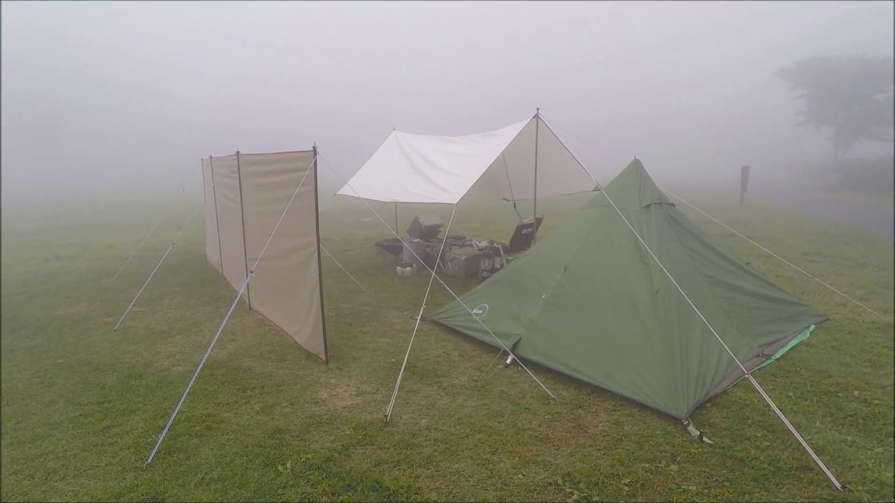 陣幕とミニピーク2でソロキャンプ - YouTube