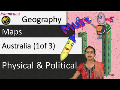 Australia (1 Of 3) Physical And Political: World Geography Through Maps & Mnemonics