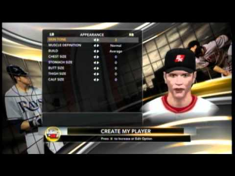MLB 2k11 My Player Part 1: Creation of the next superstar Pete S