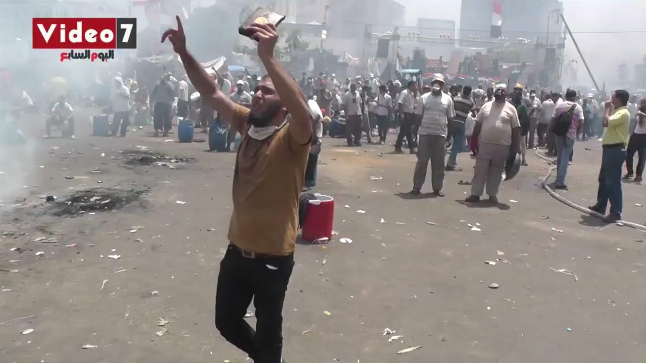اللحظات الأخيرة لاعتصام رابعة??.. الإخوان يحرقون الاعتصام والأمن يعثر على الأسلحة  - 09:59-2021 / 4 / 18