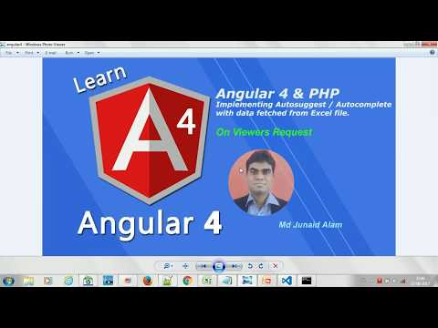 Angular 4 & PHP -  Implementing Auotosuggest / Autocomplete (Angular 4) -  #18