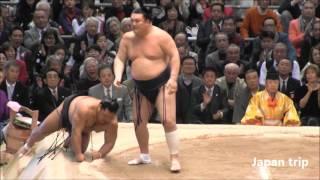 勢 vs 松鳳山の取組。 2016大相撲春場所3日目。