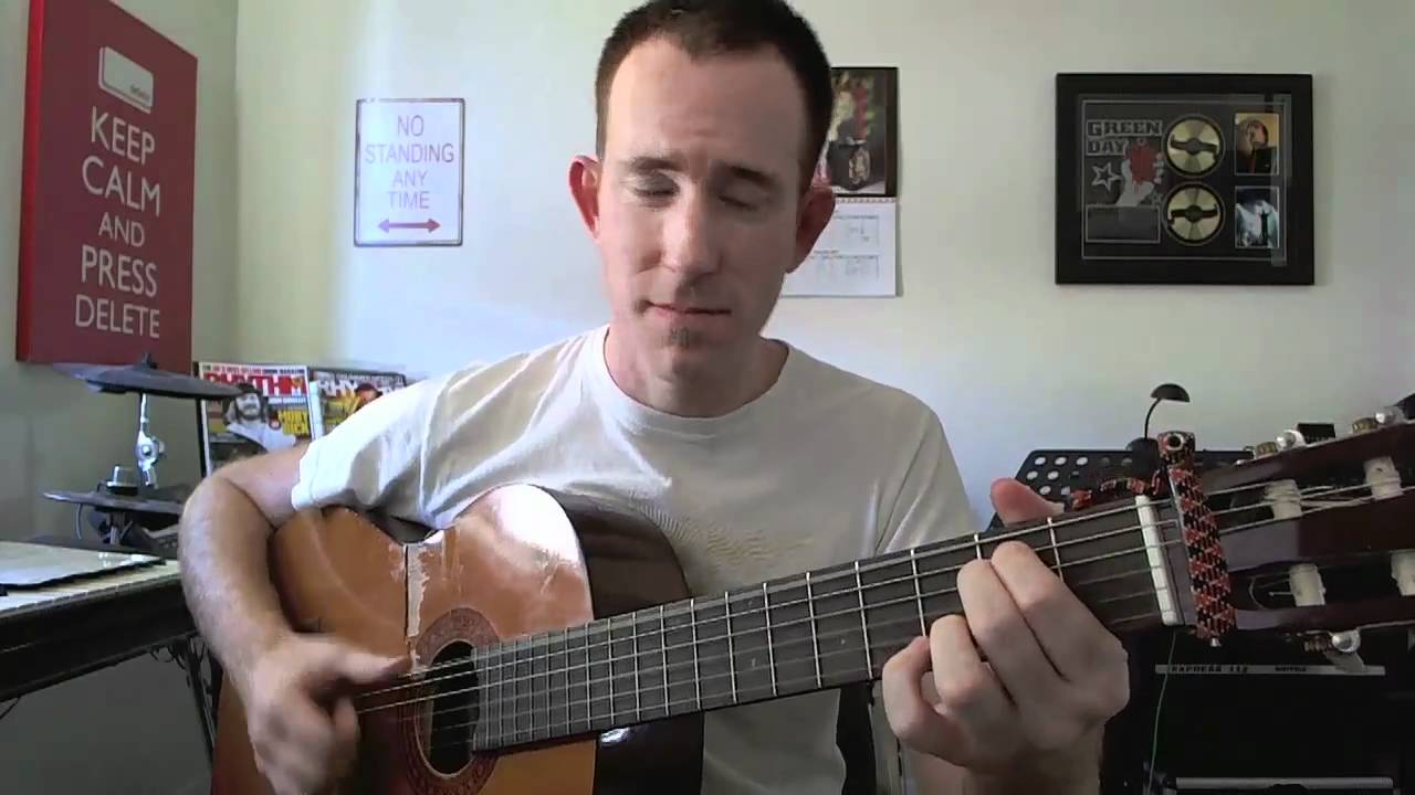Walking On Sunshine Guitar Vocals Cover In A Minor Key Youtube