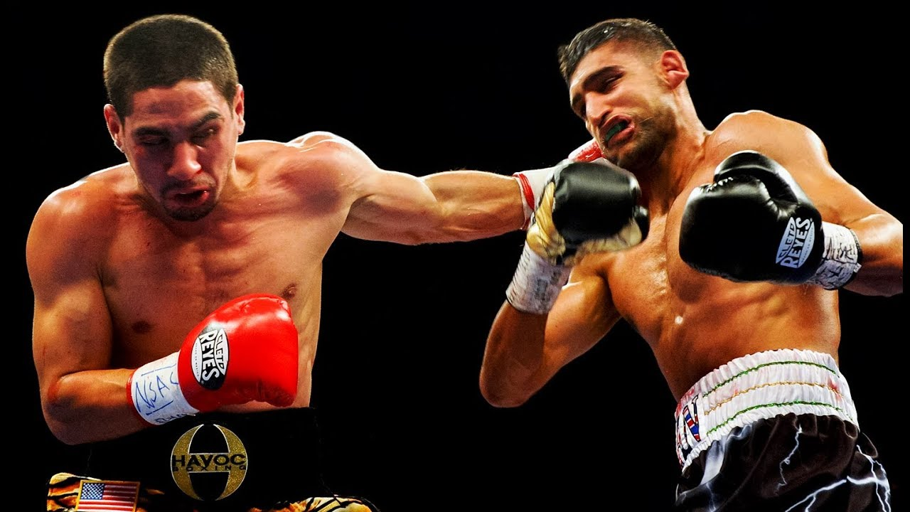 Danny Garcia vs Amir Khan - Highlights (Garcia KNOCKS OUT Khan)