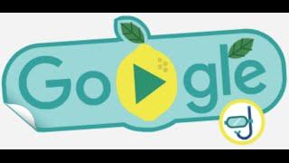 2016 Rio Olympics Google Doodle Lemon Swimming Fruit Game 3 Star Walkthrough