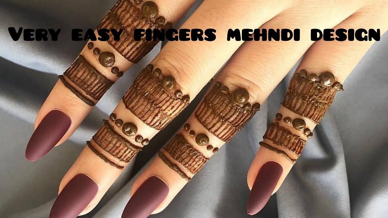 mehndi design simple and easy finger