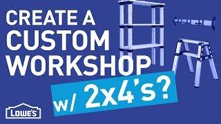 Create a Custom Workshop w/ 2x4's | DIY Basics