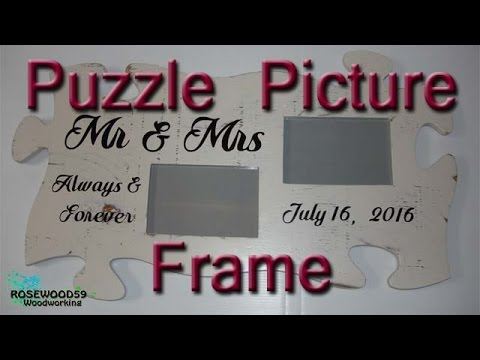 How To Make A Puzzle Picture Frame - YouTube