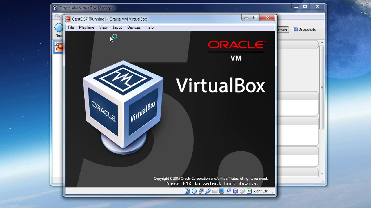 How to install CentOS 7 using the GUI in Virtual Box