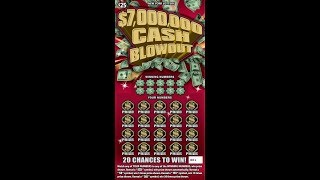 $25 - $7,000,000 CASH BLOWOUT - Lottery Scratch Off instant win tickets