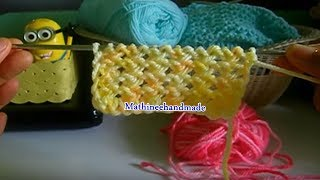 Repeat youtube video How to Knitting heart /นิตติ้งหัวใจน้อยน้อย _ Mathineehandmade