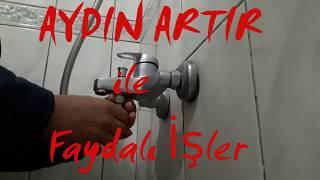 Banyo Musluğu  Değiştirme  Ve Duvar Yalıtımı Deteylarıyla / Bathroom Faucet Replacement