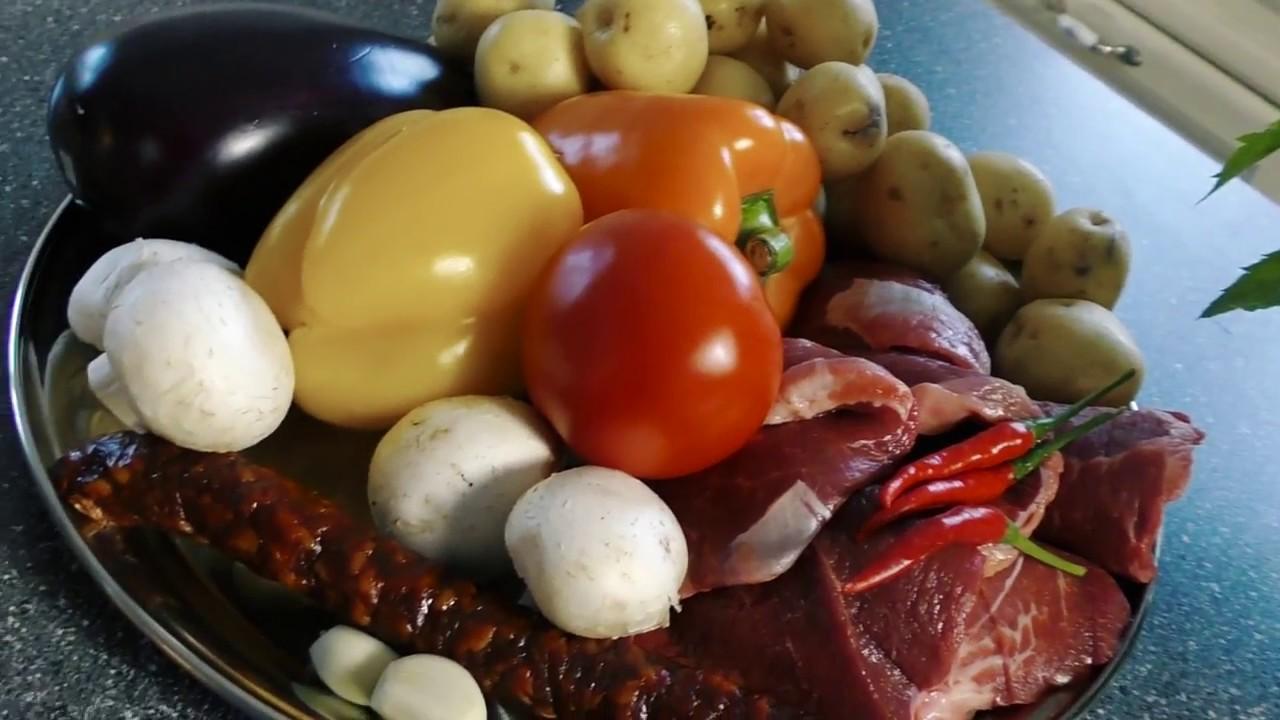 Мясо запеченное с овощами картошка с мясом и овощами в духовке