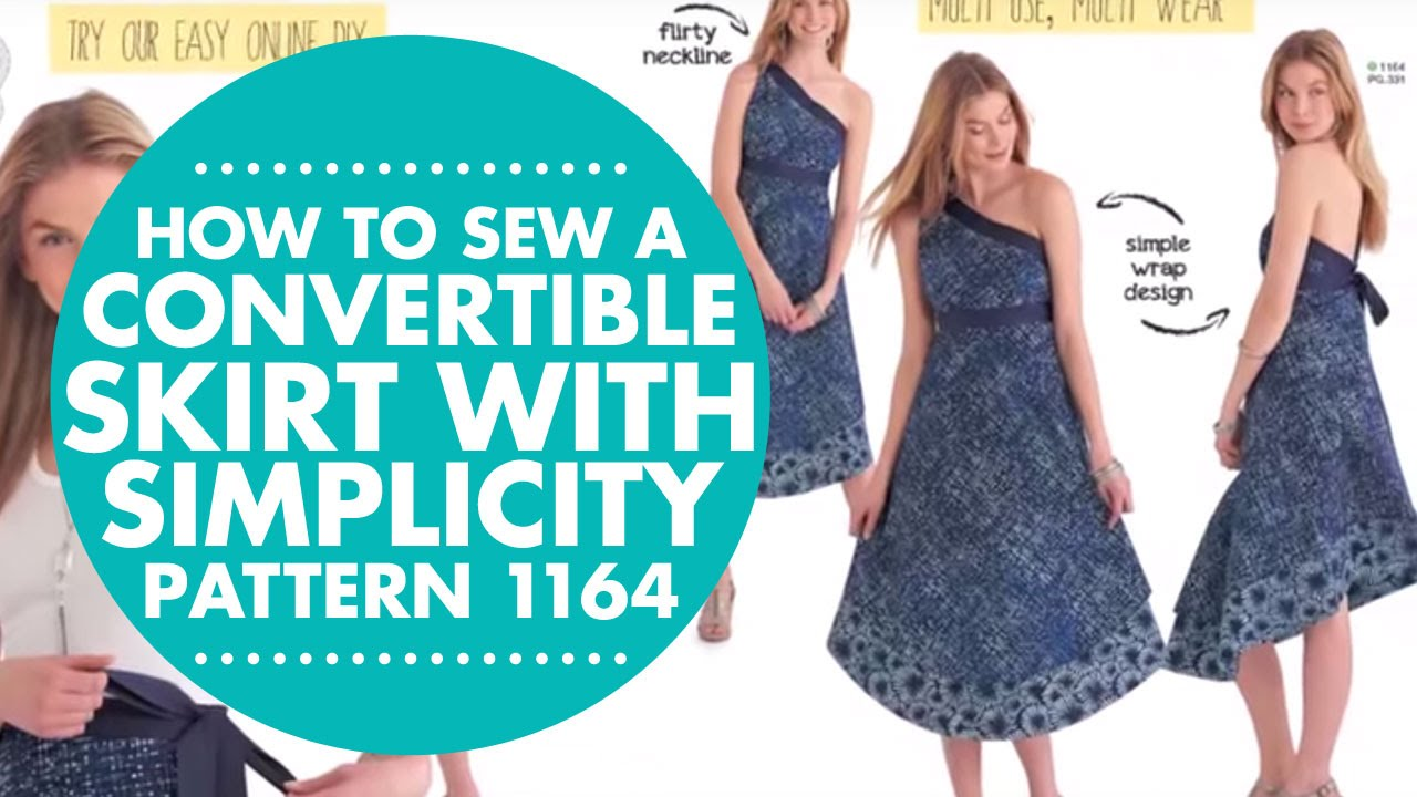 How To Sew A Convertible Skirt With Simplicity Pattern