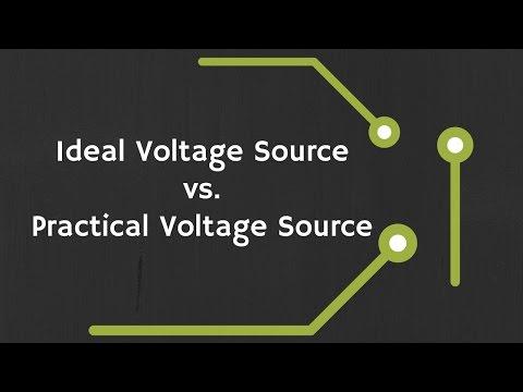 Ideal Voltage Source vs. Practical Voltage Source