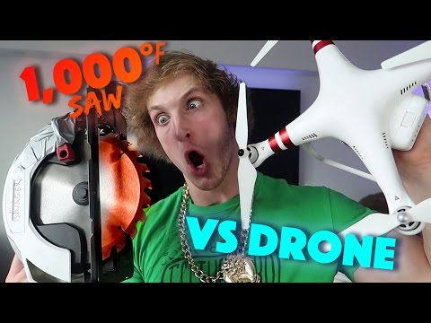 Thumbnail: EXPERIMENT Glowing 1000 degree SAW VS. DRONE
