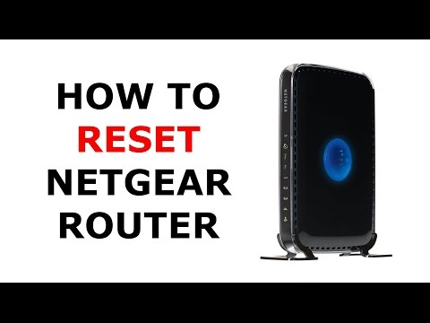 How to Factory Reset a Netgear Wireless Router - YouTube