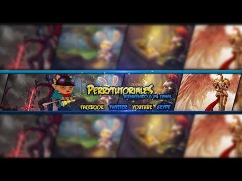Speed Art #9  - Free Youtube Banner/Channel Art #2 ¡  League Of Legends Template !
