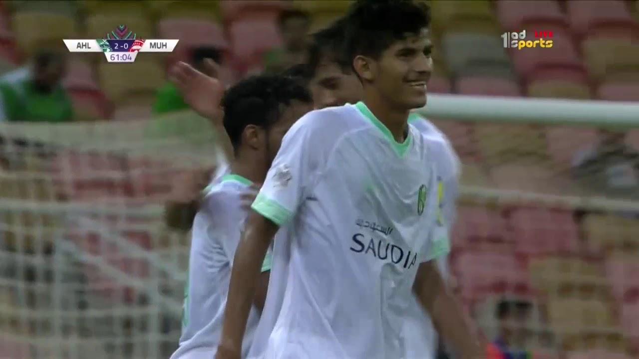 هدف الأهلي السعودي الثاني في مرمى المحرق البحريني عبدالرحمن غريب 62