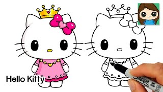 How to Draw Princess Hello Kitty