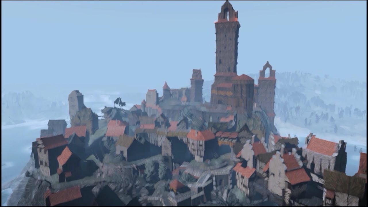 Witcher 3 Hearts of stone Painted world free cam - painted Novigrad and more ! - YouTube