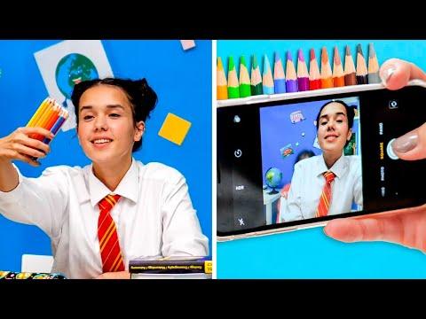 FUNNY SCHOOL SUPPLY HACKS || School Hacks for Everyone by 5-Minute DECOR!