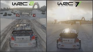 WRC 6 vs WRC 7 - Graphics, Sound, Gameplay Comparison - Karlstad Rally Sweden