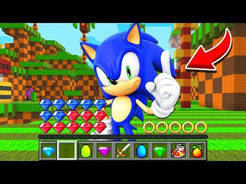 How to play SONIC THE HEDGEHOG in Minecraft! Challenge Battle NOOB VS PRO Funny Animation Real Life