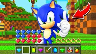 How to play SONIC THE HEDGEHOG in Minecraft Challenge Battle NOOB VS PRO Funny Animation Real Life