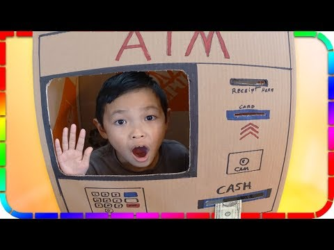 SuperBaby Pretend Play with ATM Machine Toy Box! Kids Learning About Money
