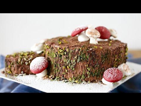 TIRAMISU XMAS TREE STUMP - Cách làm bánh TIRAMISU KHÚC CÂY giáng sinh