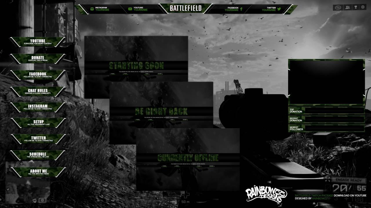 Battlefield Twitch Package Youtube