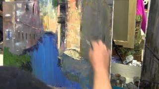 Игорь Сахаров, город, городской пейзаж, городские дома, здания, научиться рисовать