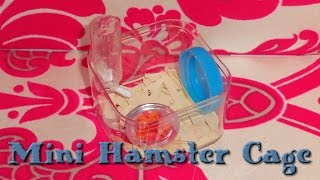 Miniature Hamster Cage + Hamster Vlog - Diy Lps Crafts, Easy Doll Crafts & Dollhouse Accessories